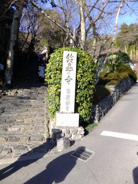 鈴虫寺に行く。